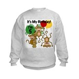 Monkey 5th Birthday Sweatshirt