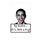 Lipstick on a Pig Rectangle Sticker 10 pk)