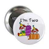 "Clowns 2nd Birthday 2.25"" Button"