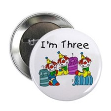 "Clowns 3rd Birthday 2.25"" Button"