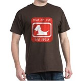 Year of The Dog 1970 Black T-Shirt