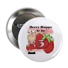 "(Blond) Berry 3rd Birthday 2.25"" Button"