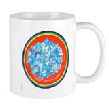 Throat Chakra Flower Mandala Small Mug