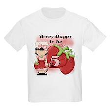 (Black) Berry 5th Birthday T-Shirt