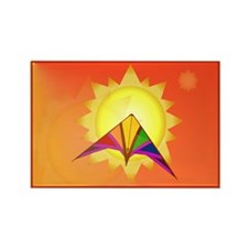 Summer Time Kite Rectangle Magnet (100 pack)