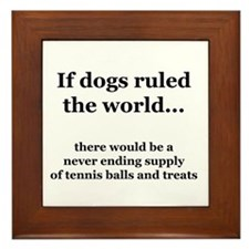 Dog Park Framed Tile