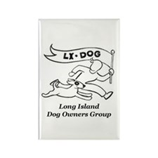 Dog Park Rectangle Magnet (100 pack)