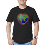 Earth Heart Men's Fitted T-Shirt (dark)