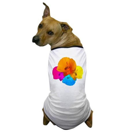 Honeybee Poppy Art Dog T-Shirt