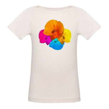 Honeybee Poppy Art Organic Baby T-Shirt
