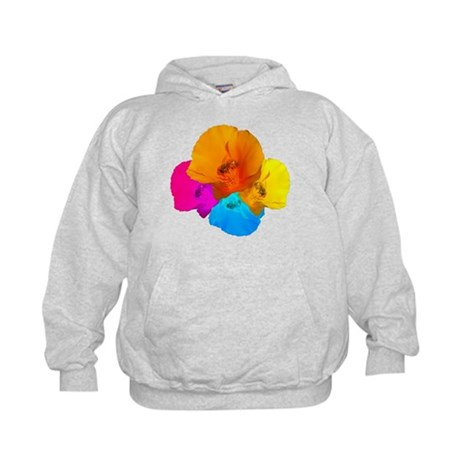 Honeybee Poppy Art Kids Hoodie