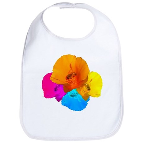 Honeybee Poppy Art Bib