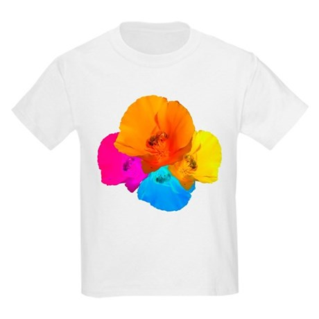 Honeybee Poppy Art Kids Light T-Shirt