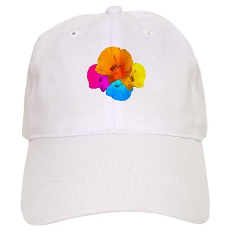 Honeybee Poppy Art Cap