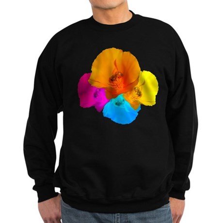 Honeybee Poppy Art Sweatshirt (dark)
