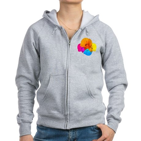 Honeybee Poppy Art Women's Zip Hoodie