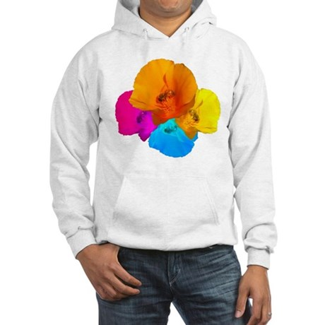 Honeybee Poppy Art Hooded Sweatshirt