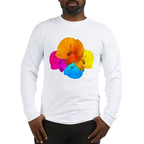Honeybee Poppy Art Long Sleeve T-Shirt