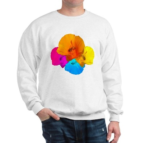 Honeybee Poppy Art Sweatshirt