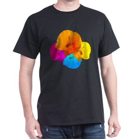 Honeybee Poppy Art Dark T-Shirt