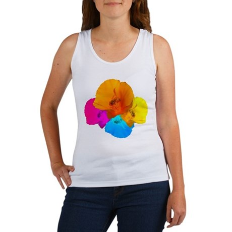 Honeybee Poppy Art Women's Tank Top