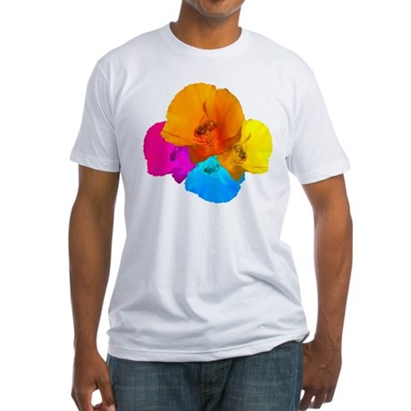 Honeybee Poppy Art Fitted T-Shirt