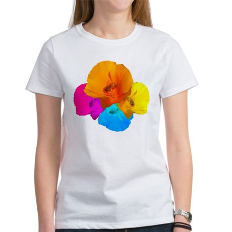 Honeybee Poppy Art Women's T-Shirt