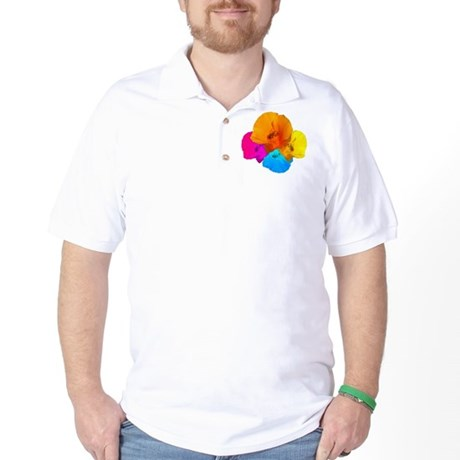 Honeybee Poppy Art Golf Shirt