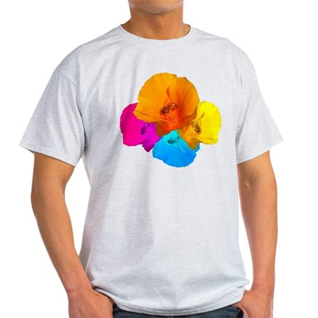 Honeybee Poppy Art Light T-Shirt