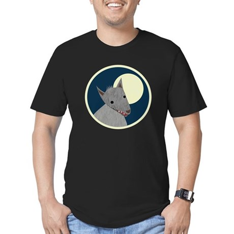 Wolf Men's Fitted T-Shirt (dark)