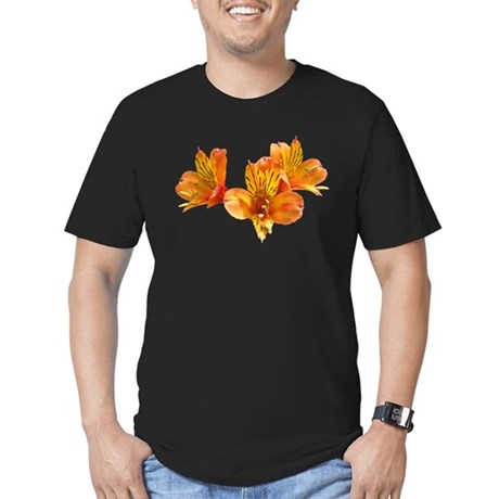 Three Lilies Men's Fitted T-Shirt (dark)