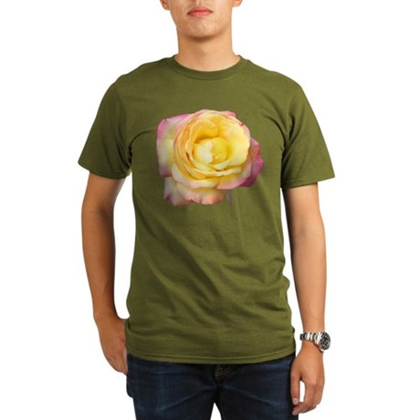 Peace Rose Organic Men's T-Shirt (dark)