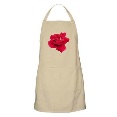Black White Red Rose BBQ Apron