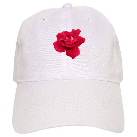 Black White Red Rose Cap