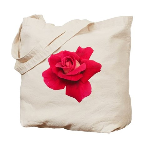 Black White Red Rose Tote Bag