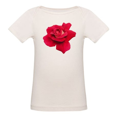 Black White Red Rose Organic Baby T-Shirt