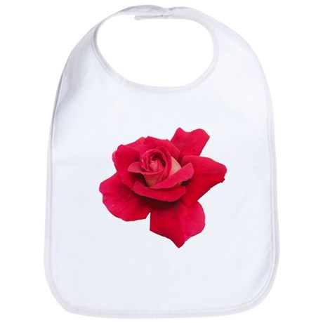 Black White Red Rose Bib
