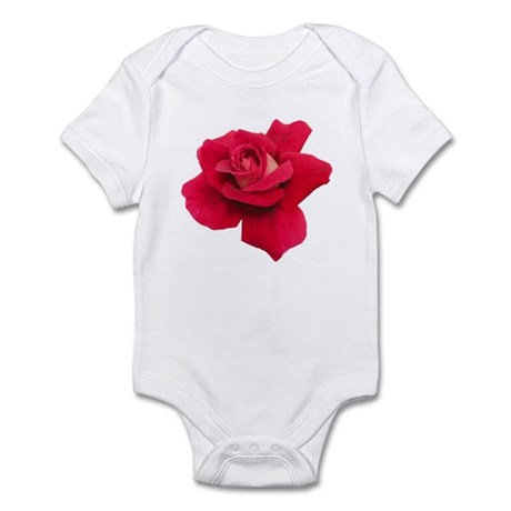 Black White Red Rose Infant Bodysuit