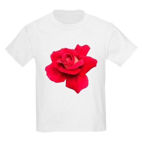 Black White Red Rose Kids Light T-Shirt