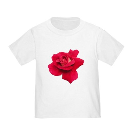 Black White Red Rose Toddler T-Shirt