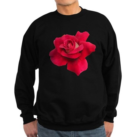 Black White Red Rose Sweatshirt (dark)