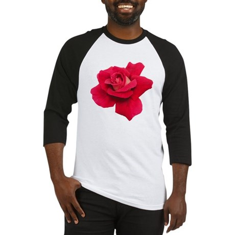 Black White Red Rose Baseball Jersey