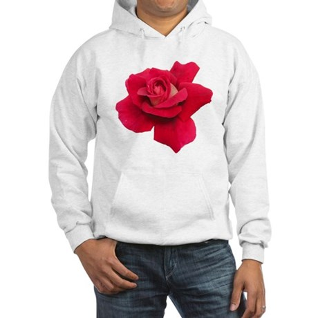Black White Red Rose Hooded Sweatshirt