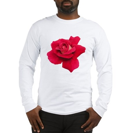 Black White Red Rose Long Sleeve T-Shirt