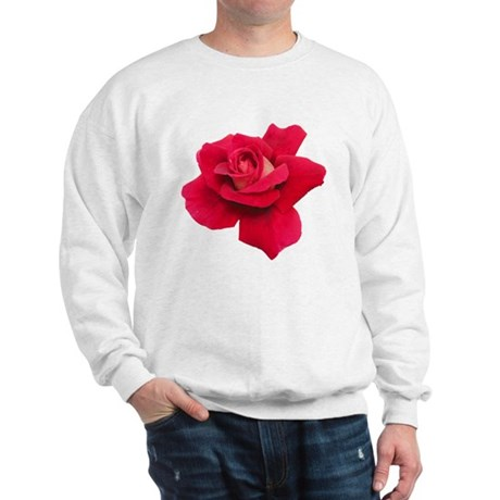 Black White Red Rose Sweatshirt
