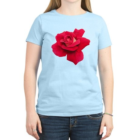 Black White Red Rose Women's Light T-Shirt