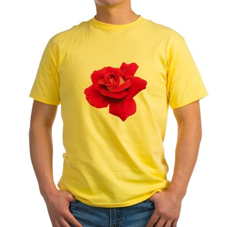 Black White Red Rose Yellow T-Shirt