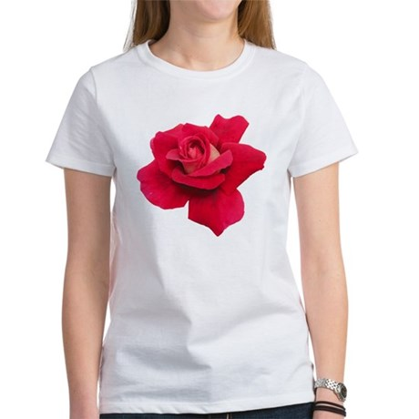 Black White Red Rose Women's T-Shirt