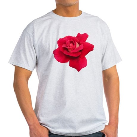 Black White Red Rose Light T-Shirt