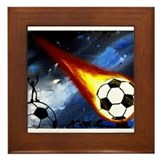 Unique Soccer ball Framed Tile
